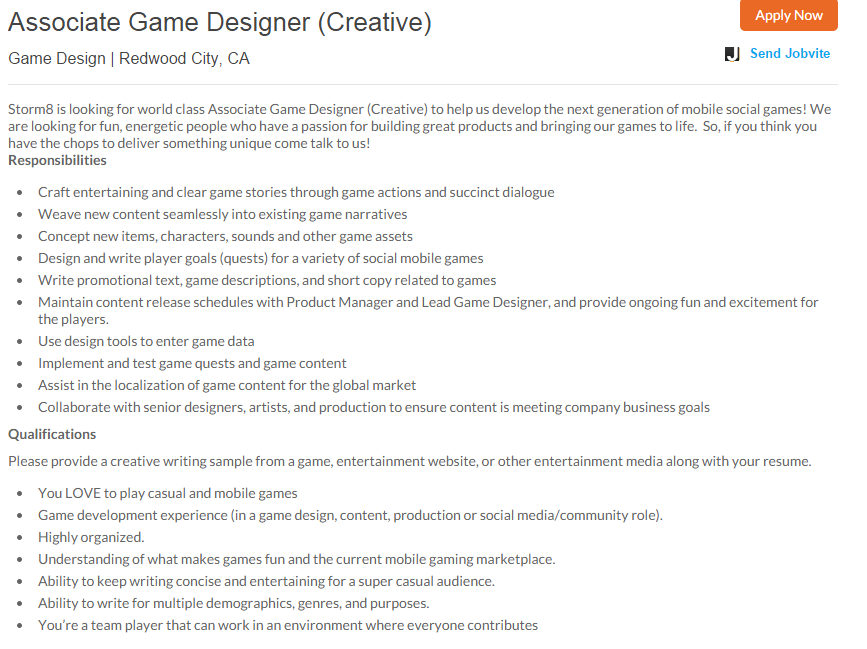 careers in game development essay Ask the experts: the advantages and disadvantages of game school [091007] - jill duffy dear experts, i am pursuing a career in game development.